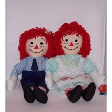 "Raggedy Ann and Andy 17"" Dolls"